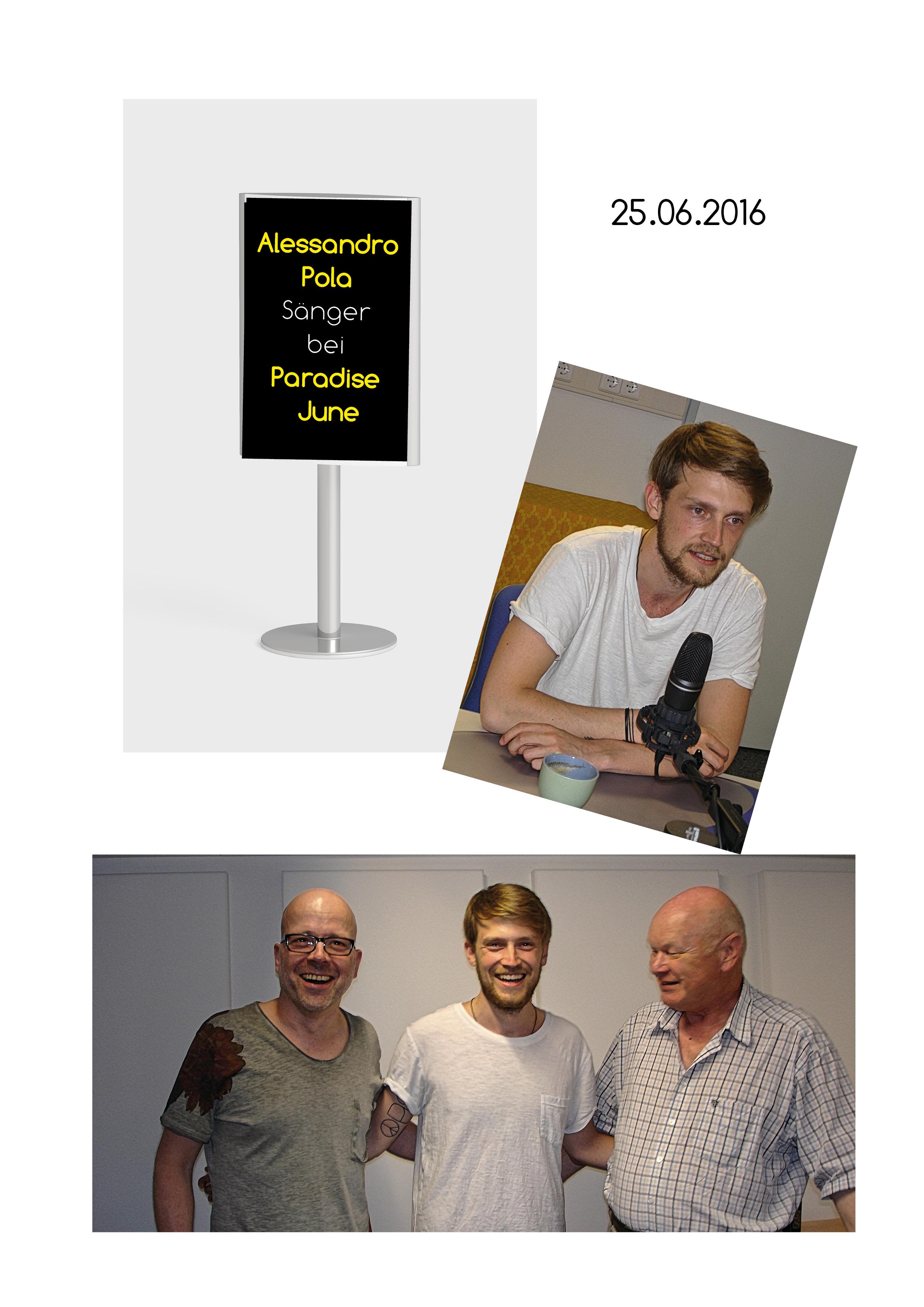 25.06 Allesandro Pola Sänger Bei Paradise June